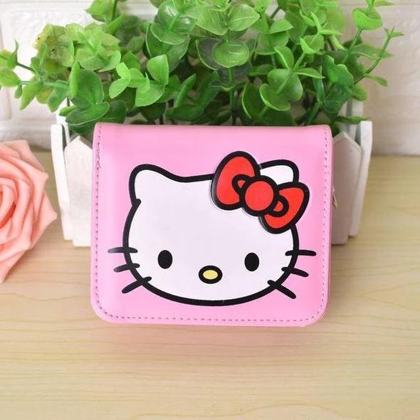 Cute Cartoon Hello Kitty wallet hellokitty Purse Women Leather Wallets For Girlsintothea #walletsforwomen