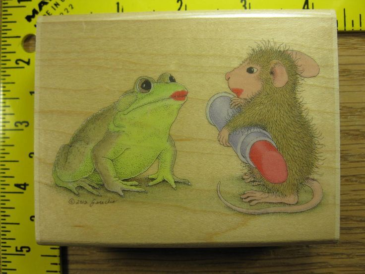 Stampabilities Rubber Stamp House Mouse Kiss and Make Up #2846 #Stampabilities