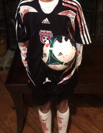 Dead Soccer Player Costume Happy Boy Best Celebrity Halloween Costumes