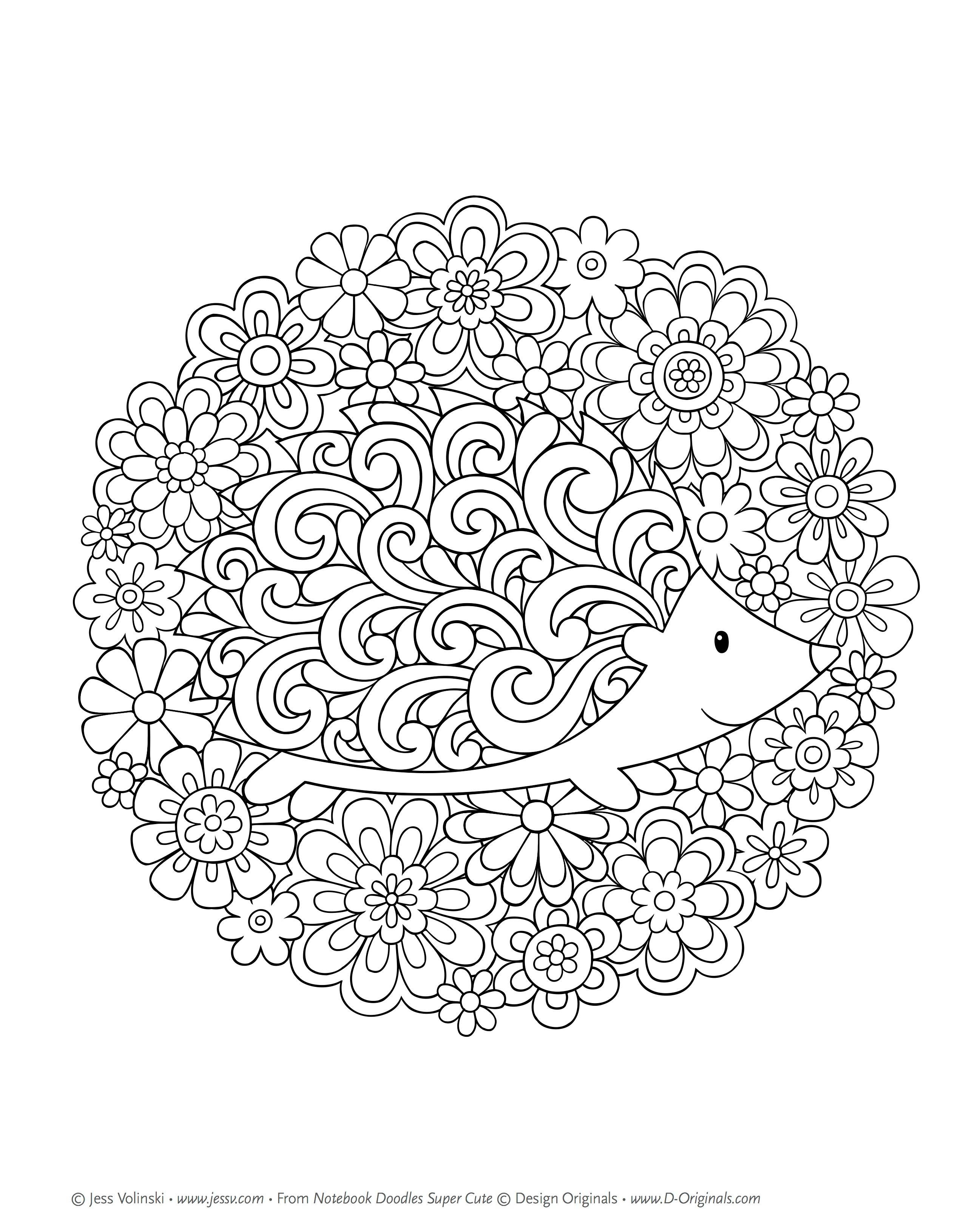 Amazon Com Notebook Doodles Super Cute Coloring Amp Activity Book 9781497201392 Jess Volinski Mandala Coloring Pages Cute Coloring Pages Coloring Pages