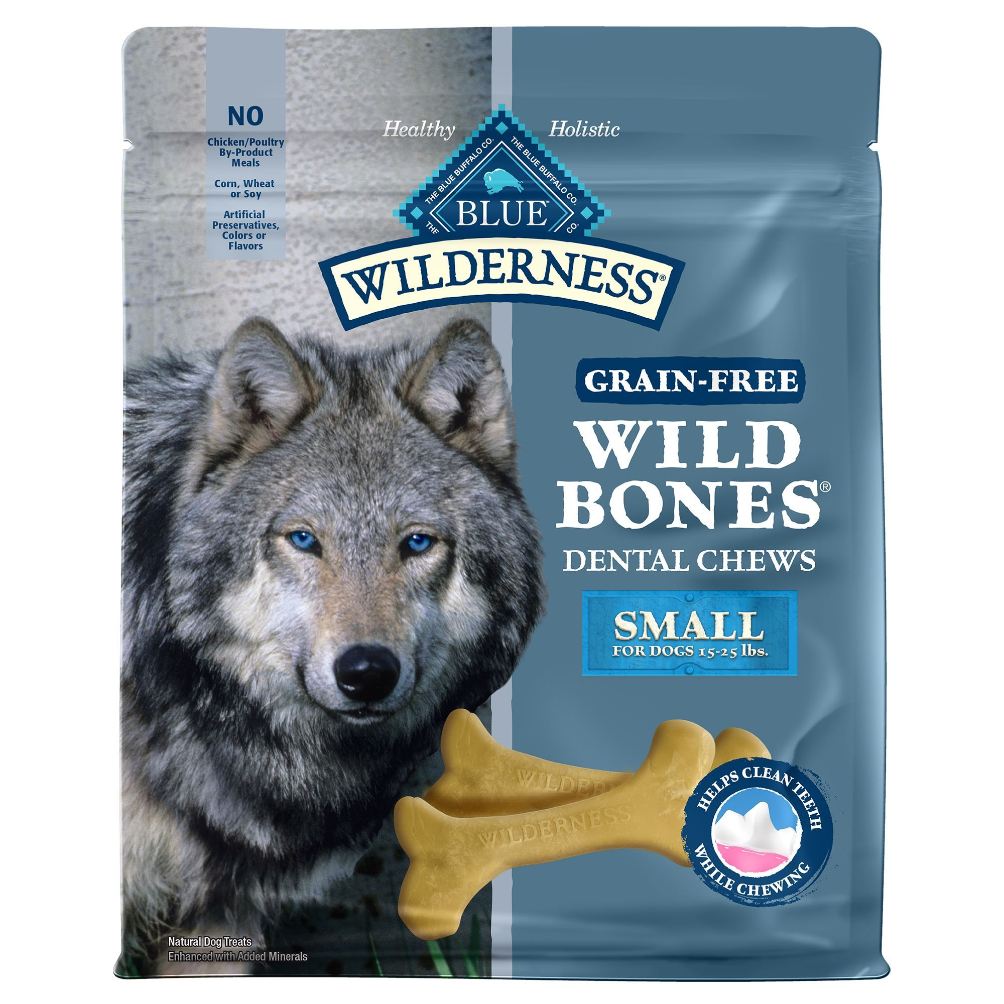 Blue Buffalo Wilderness Wild Bones Dental Small Dog Chews