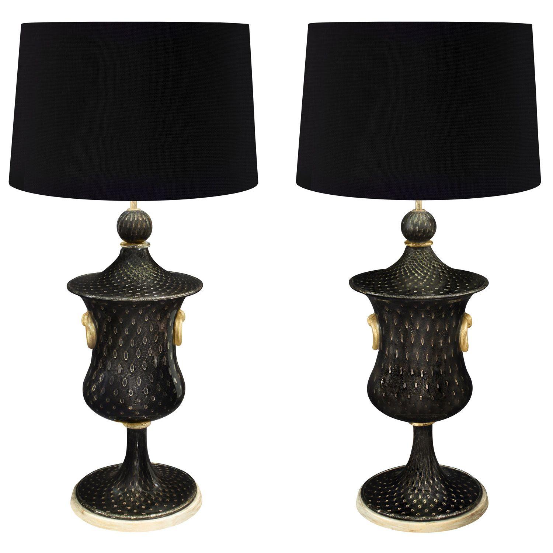 Barovier toso pair of monumental handblown glass table lamps 1940s barovier toso pair of monumental handblown glass table lamps 1940s lobel modern nyc aloadofball Gallery