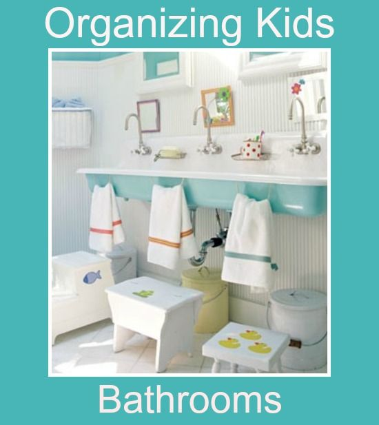 kids bathroom organization ideas