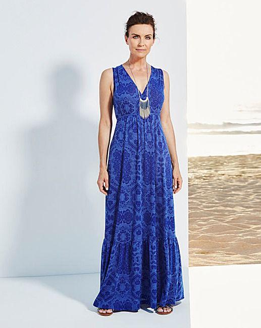 8daad530ca5 Wrap Front Jersey Maxi Dress - L