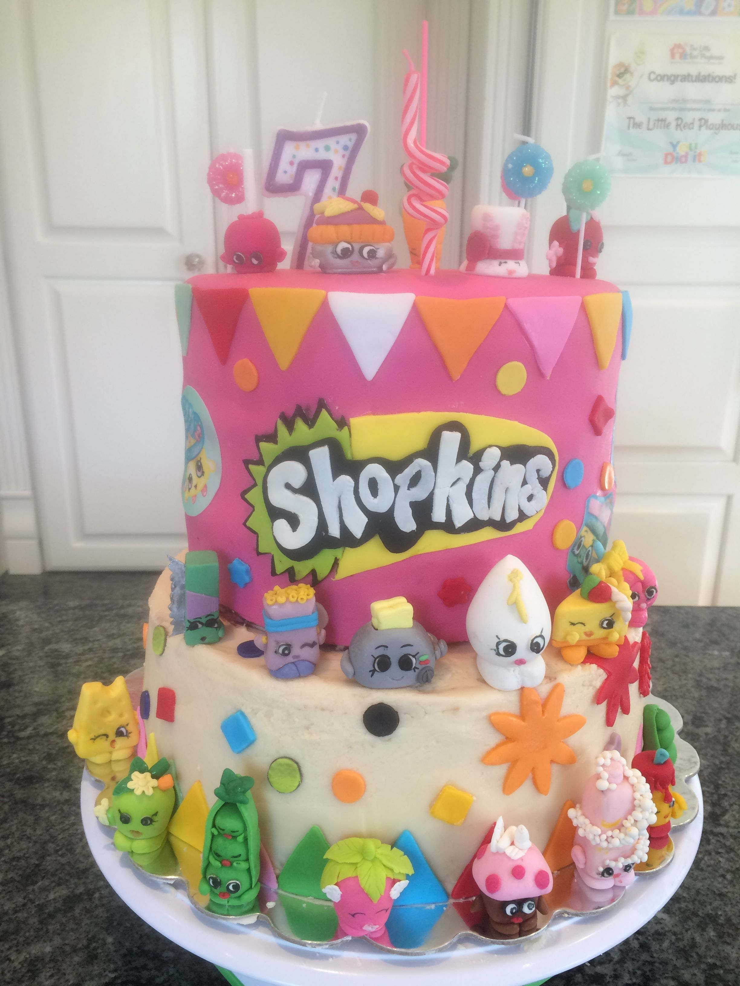 Birthday Cake Ideas Girl 7 : Shopkins Birthday cake Season 3 /craft! My 7 yr old loved ...