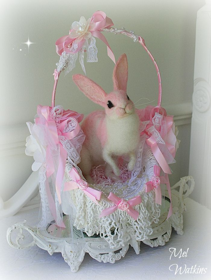 Gorgeous shabby chic pink easter basket made by olivias romantic gorgeous shabby chic pink easter basket made by olivias romantic home 3 negle Choice Image