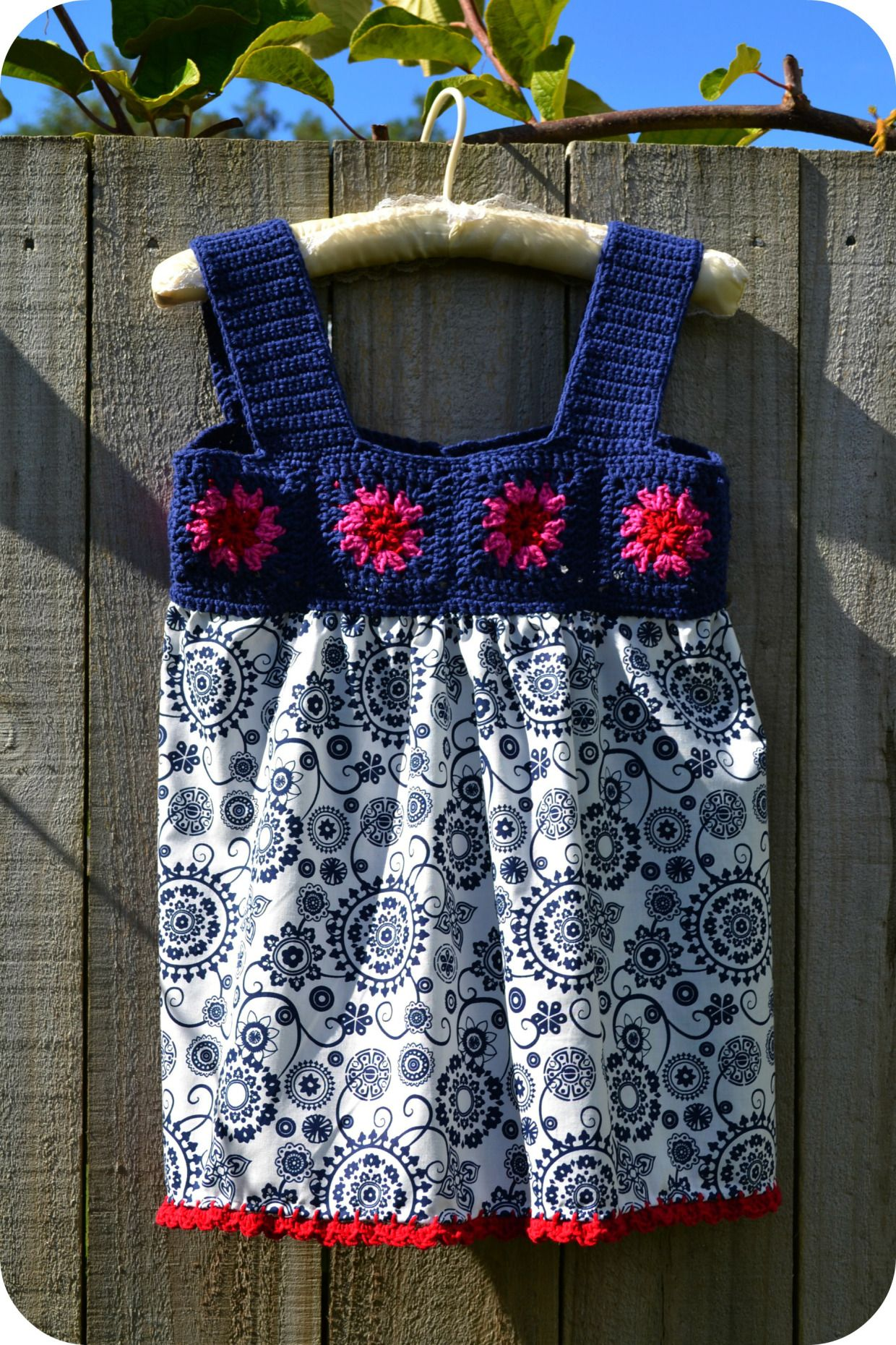 Dianthus crochet yoke top