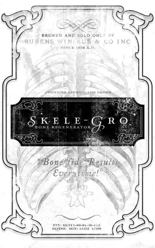 Skele-Gro Harry Potter potion labels | Halloween Champagne Campaign ...