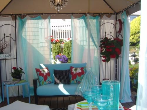 Hampton Bay 10 Ft X 10 Ft Outdoor Patio Arrow Gazebo Gghl00019 The Home Depot In 2020 Gazebo Hampton Bay Outdoor Curtains