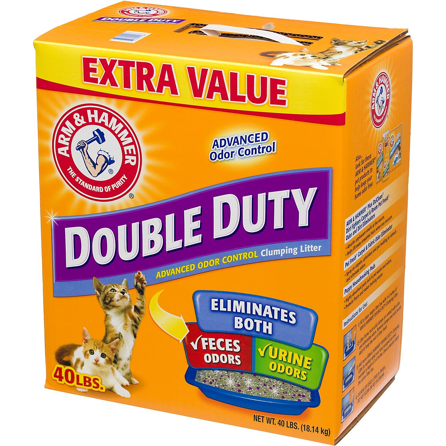 Arm Amp Hammer Double Duty Advanced Odor Control Clumping