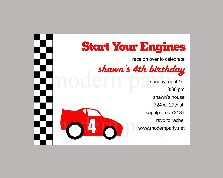 Race Car Invitations Free Printable | Invitationjpg.com