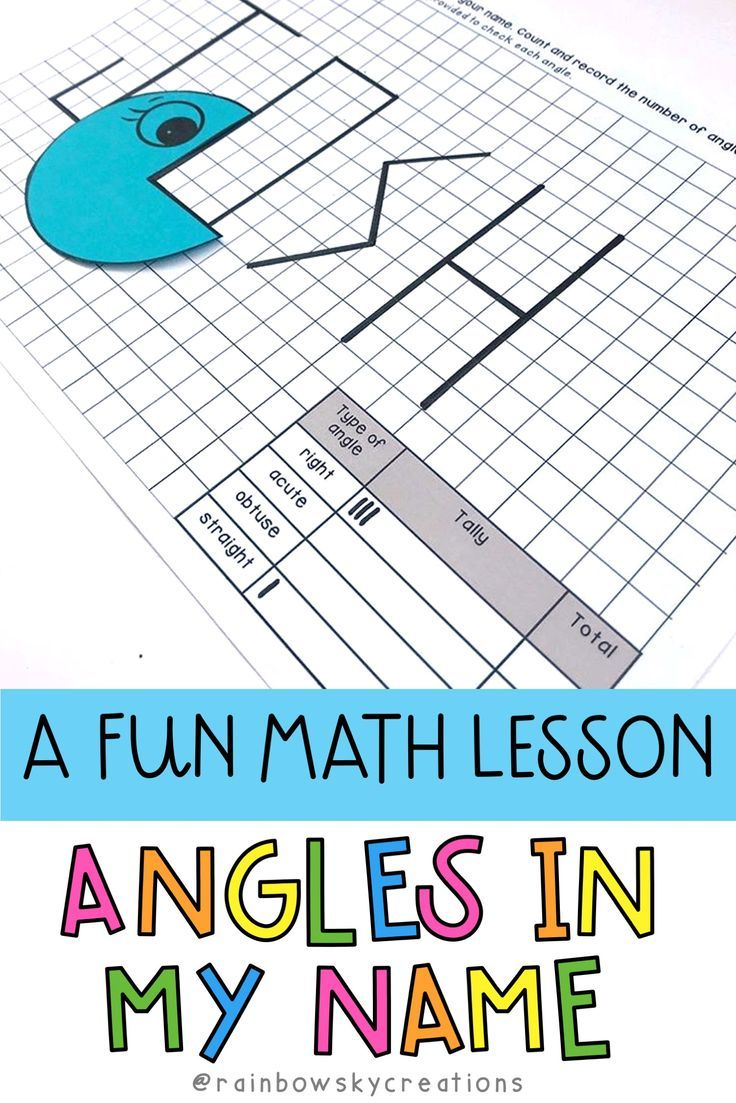 Measuring Angles in your Name {Acute, obtuse, right