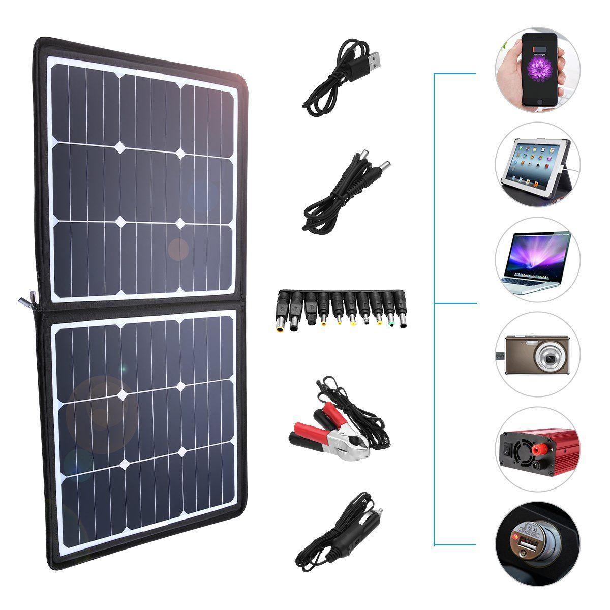 Poweradd 50w Solar Charger 18v 12v Sunpower Solar Panel For Laptop Iphone X 8 8 Plus Ipad Pro Ipad Mini Macbook Ipad Samsun Solar Charger Solar Solar Panels