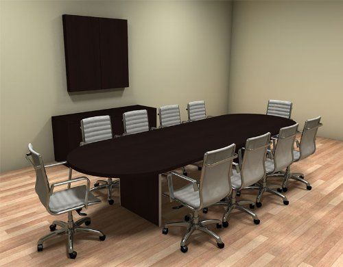 Amazon Com Modern Racetrack 12 Feet Conference Table Ch Amb C23 Home Office Furniture Home Office Furniture Sets Conference Table Home Office Furniture