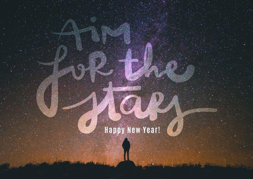 Strebe nach den Sternen | Neujahrskarten - New Years Eve cards ...