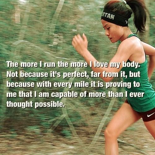 So true....this is how I felt with my first half-marathon in 2013. Hoping for a full marathon in 2014.