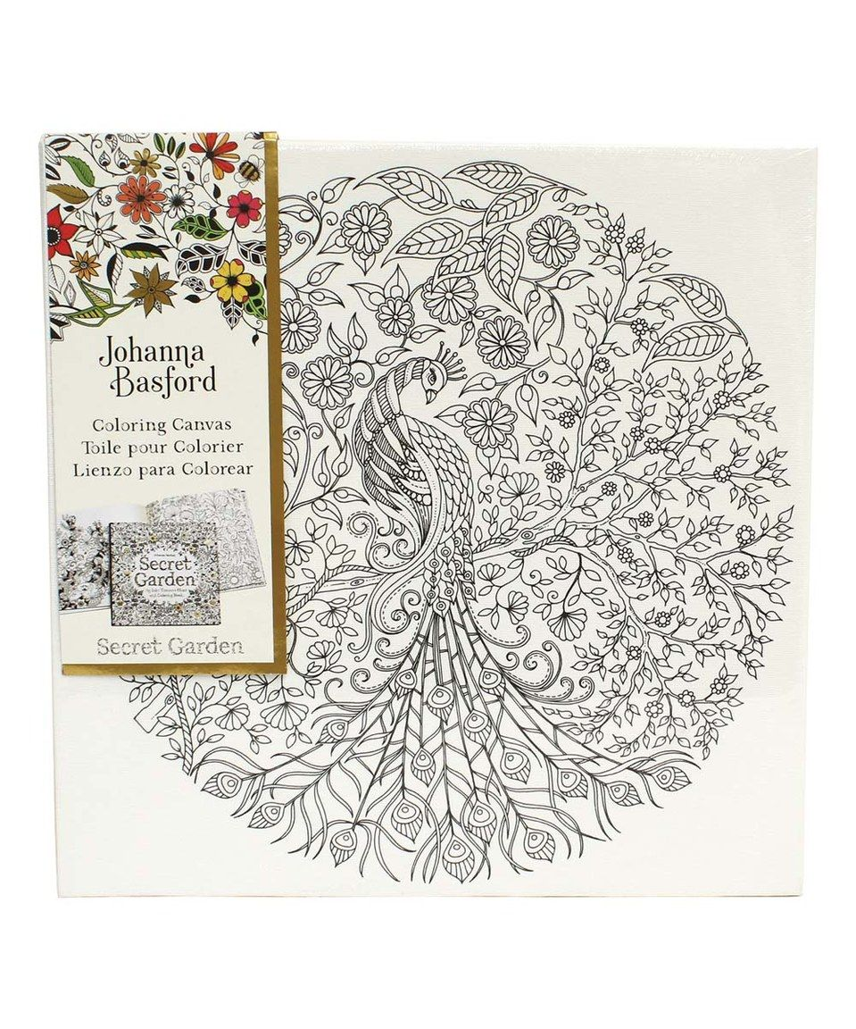 Another Great Find On Zulily Secret Garden Peacock Coloring Canvas By Johanna Basford
