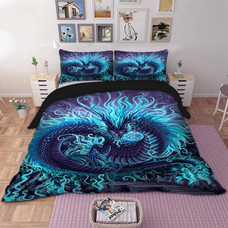 3d Dragon Cool Bedding Set Queen Bed, Dragon Bedding Sets Queen