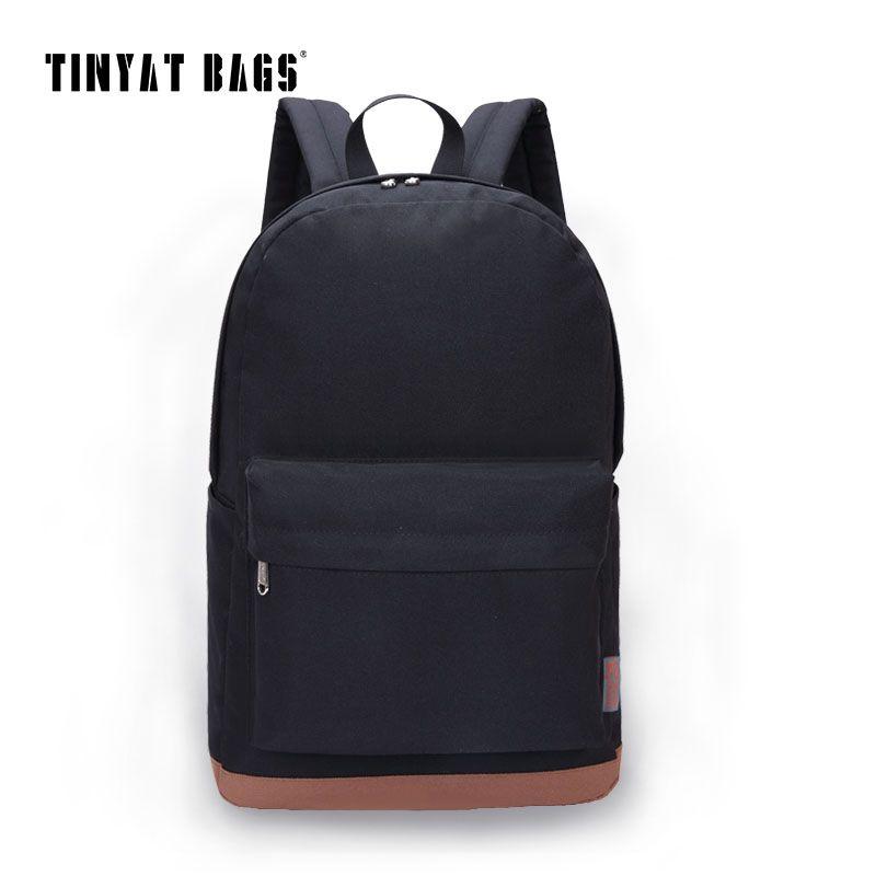 4e14eb456498 TINYAT Men Canvas College Student School Backpack Male Bags Casual  Rucksacks Laptop Backpacks Women Mochila T101