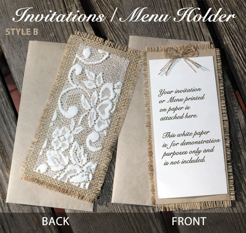 diy rustic wedding invitations burlap%0A Rustic Vintage Country Wedding Invitations