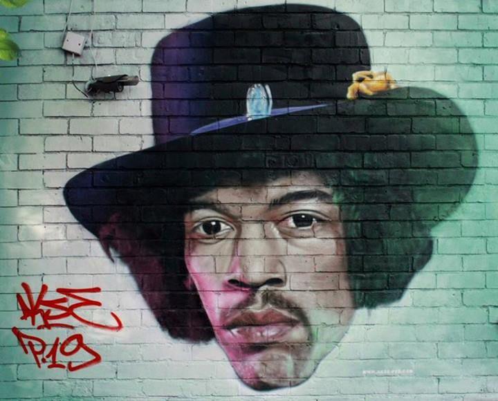 "Artist : AKSE  ""Jimi Hendrix ""- Anvers, Belgium"