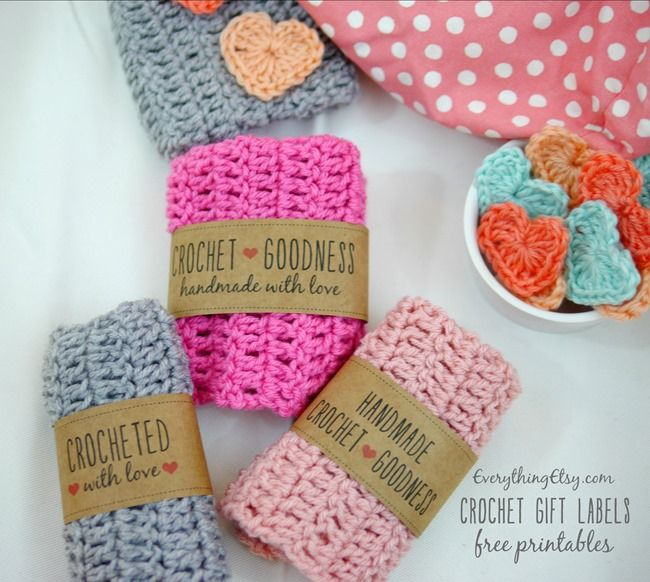 Crochet Labels Free Printable Gift Tags On Everythingetsy