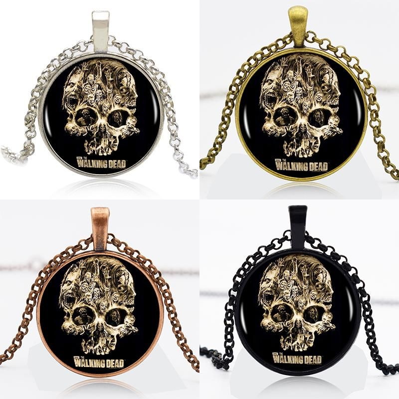 Find More Pendant Necklaces Information about 10pcs the walking dead    thrilling  logo Round Pendant Women Choker Statement Necklace For christmas gift 90875,High Quality necklace dog,China necklace catalog Suppliers, Cheap choker necklace jewelry from DreamFire Store on Aliexpress.com