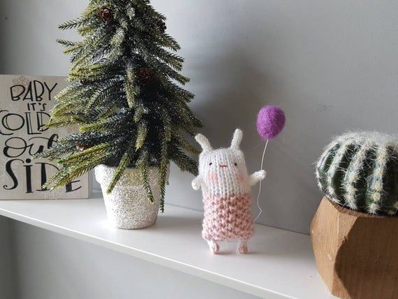 Bunny plush Little knitted toys- Easter bunny - Party favor for girls-Baby nursery-Small key chain gift- Amigurumi bunny-Stuffed rabbit #bunnyplush