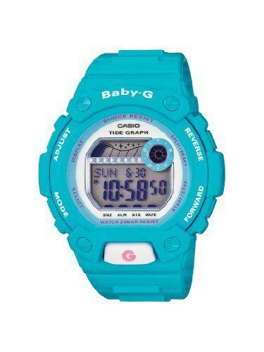 4bb969b20f82 Casio Women s BLX102-2B Baby-G Shock Resistant Light Blue Digital Sport  Watch Casio.  89.00