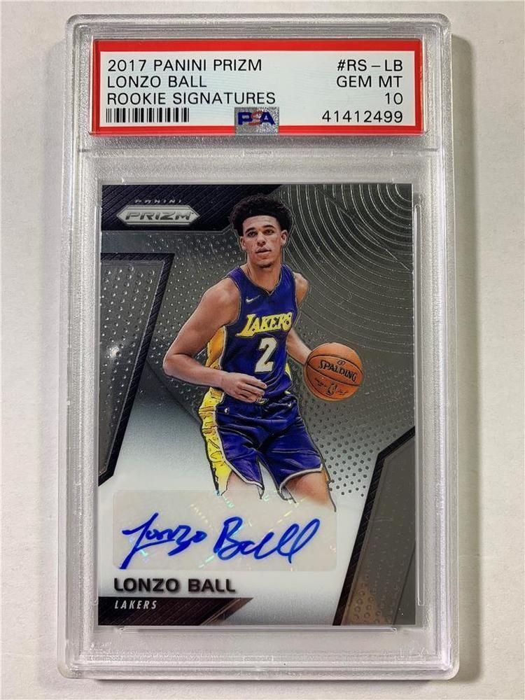 64f3c3b1bb9 2017-18 Lonzo Ball RC Prizm Rookie Signatures Auto! PSA 10 GEM MINT! LA  Lakers!  PSA10  sportscards  collecting