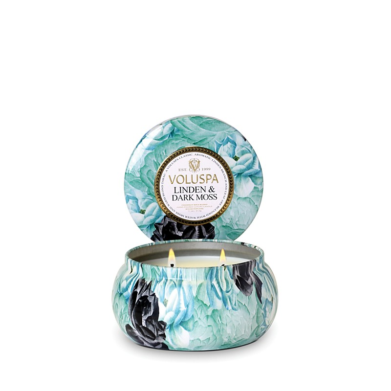 16.00$  Buy here - http://vipos.justgood.pw/vig/item.php?t=ibqpnb46513 - Voluspa Two Wick 11 oz. Metallo Candle, Linden & Dark Moss