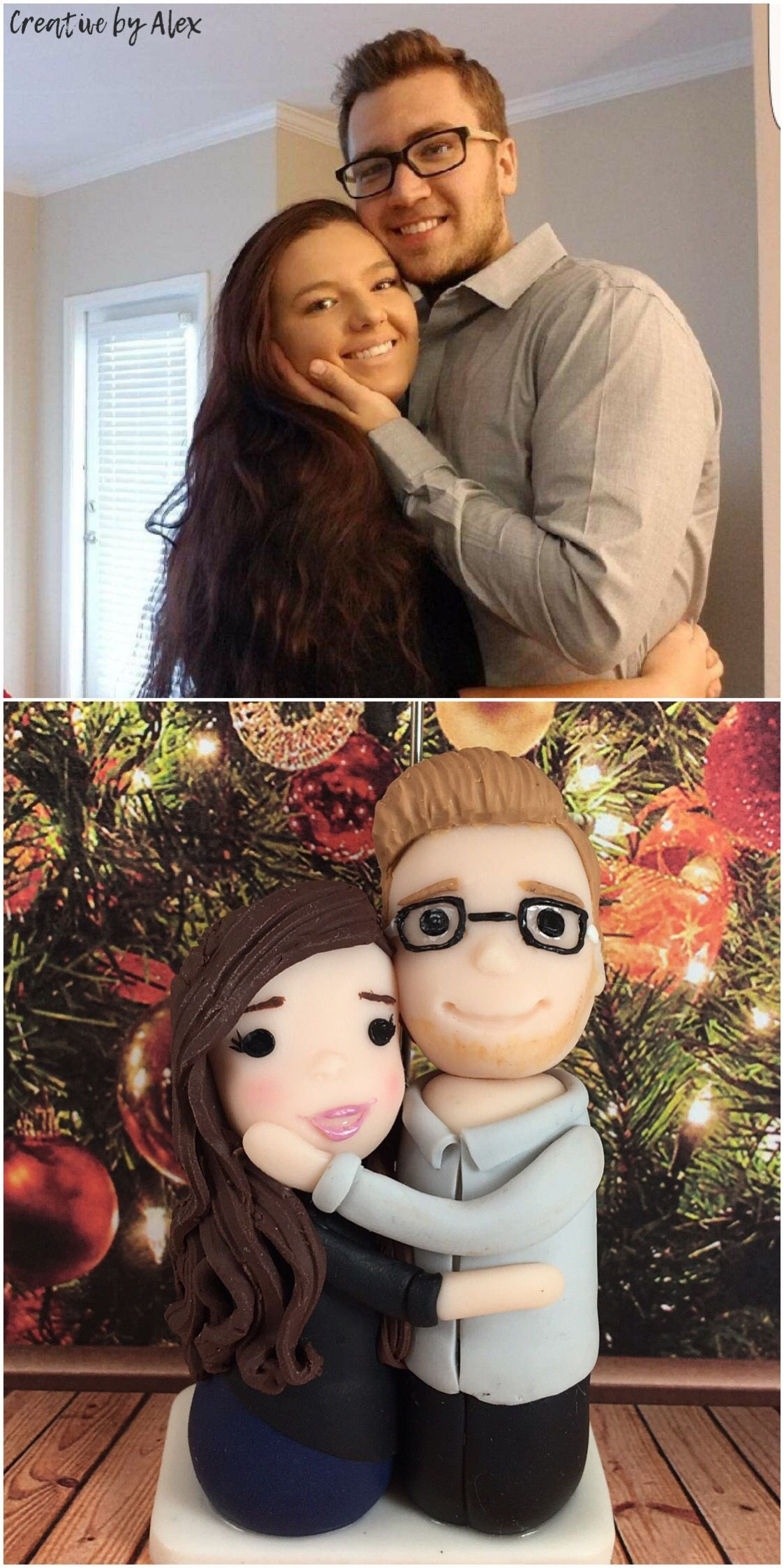 Christmas gift couples portrait custom gifts picture