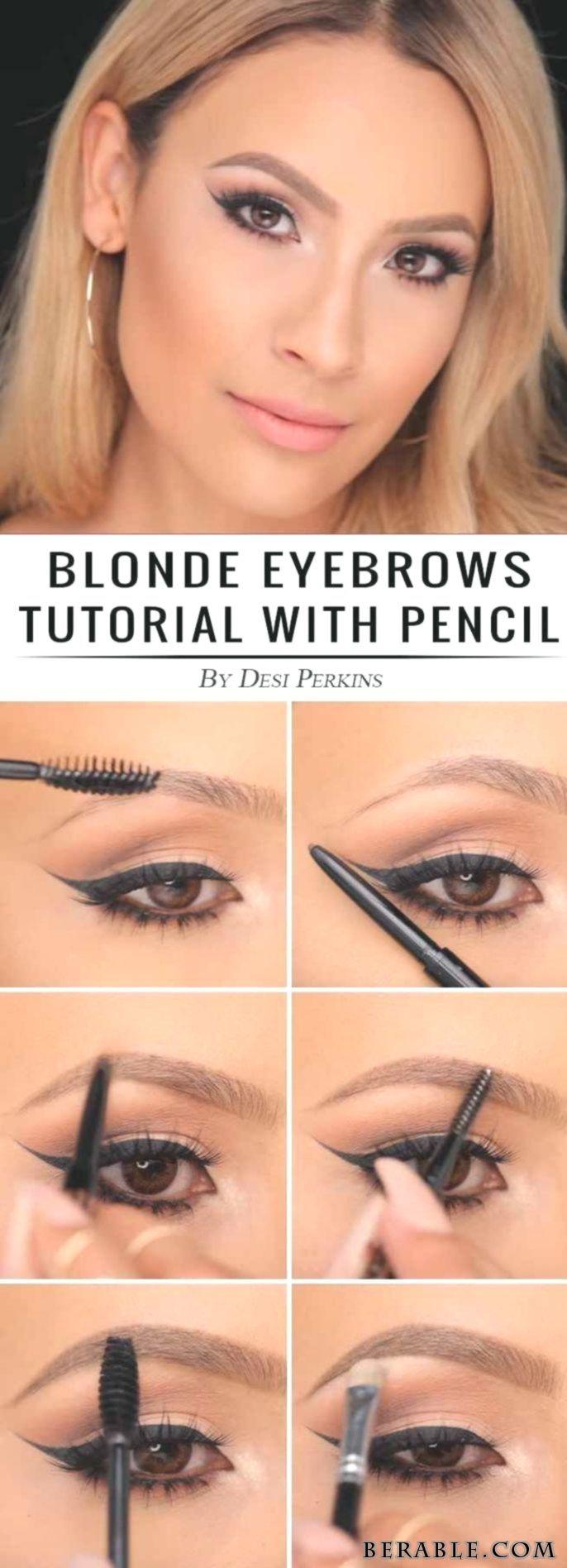 Augen Augenmakeupvideos Makeup Makeuptechniken Perfekte Brauen Techniken Wollen Blonde Eyebrows Eyebrow Tutorial Eyebrow Tutorial Blonde