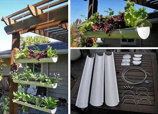 Potager et fleurissement de balcon  les gouttières, une solution - como hacer una jardinera