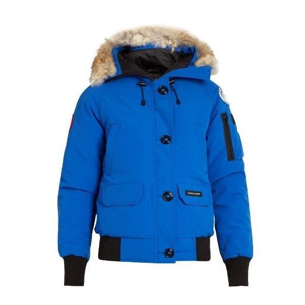 Canada Goose Chilliwack fur-trimmed down bomber jacket ($750) ❤ liked on Polyvore