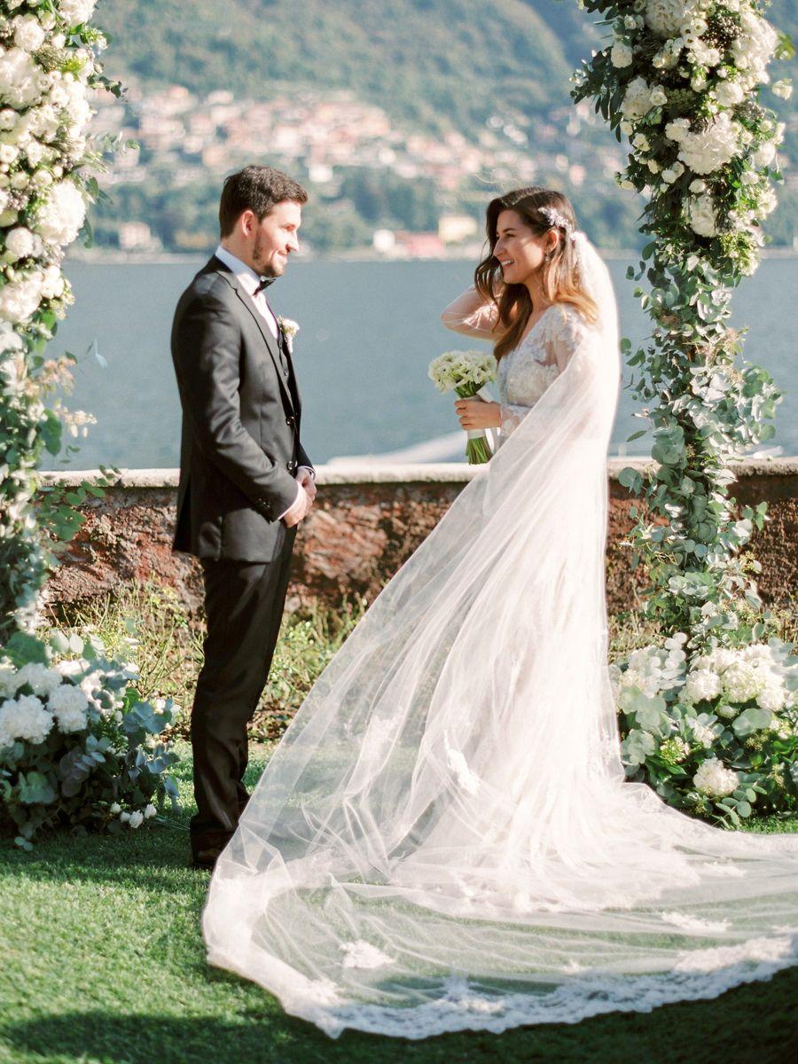 Wedding Dress: David's Bridal - http://www.stylemepretty.com/portfolio/davids-bridal Event Planning: Anastasia Aslanyan - http://www.stylemepretty.com/portfolio/anastasia-aslanyan Photography: Olga Plakitina - www.olgaplakitina.com/   Read More on SMP: http://www.stylemepretty.com/destination-weddings/2017/02/16/this-is-why-lake-como-is-on-our-dream-destination-wedding-list/