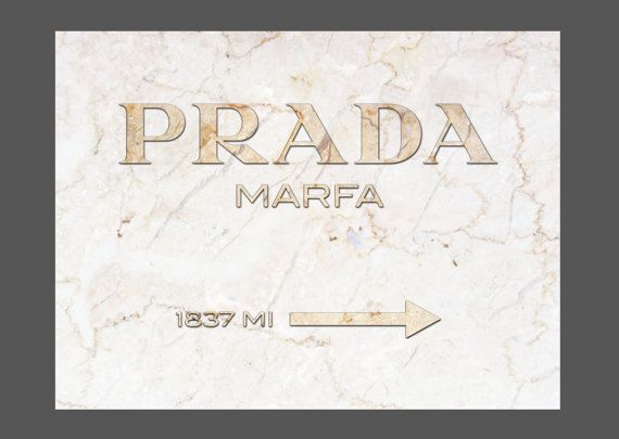 Prada Marfa Marble Canvas Print Gold Gossip 30 X40