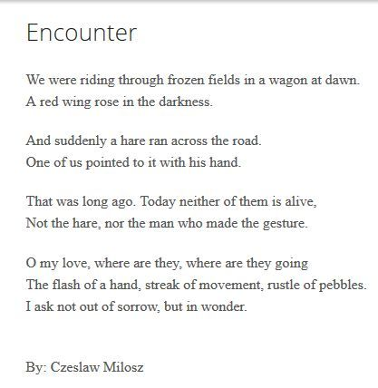 Czeslaw Milosz Poems 1