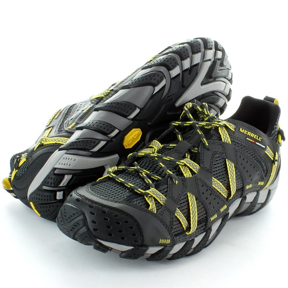 Merrell Mens Waterpro Maipo Hiking Trail Shoes Carbon / Empire Yellow:  Amazon.co.