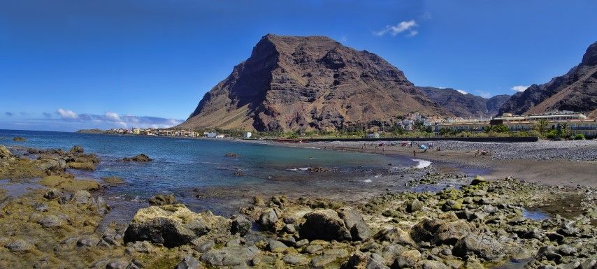 La Gomera island. Main beach of the Valle Gran Rey, Canary, Spain