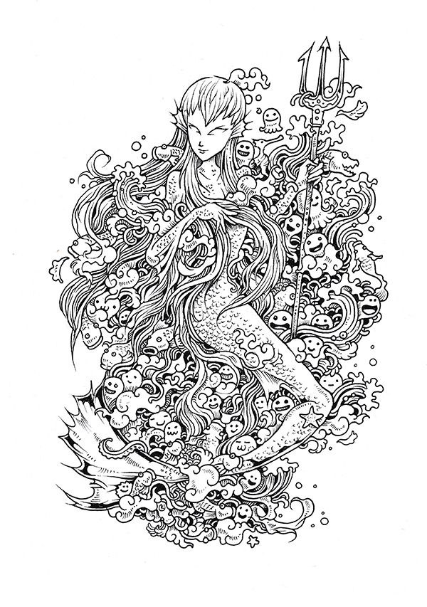 Doodle Invasion Coloring Book by Kerby Rosanes, via Behance ...