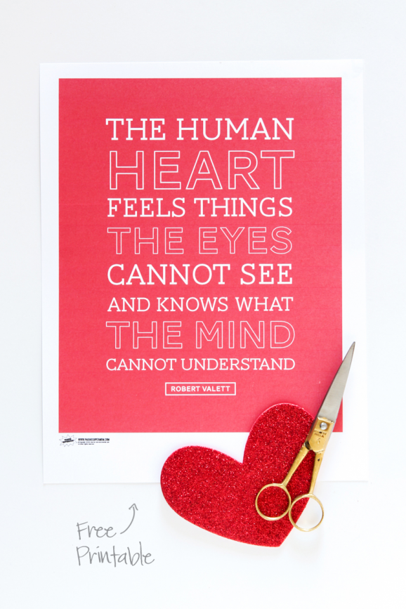 Free Printable Human Heart Quote | Best of Pinterest | Pinterest