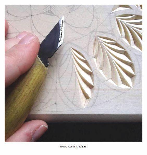 Wood Carving Pattern For Beginner Sample Chip Carving Pinterest