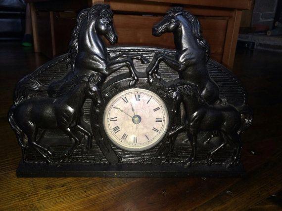 Pin On Vintage Cowboy Horse Clocks