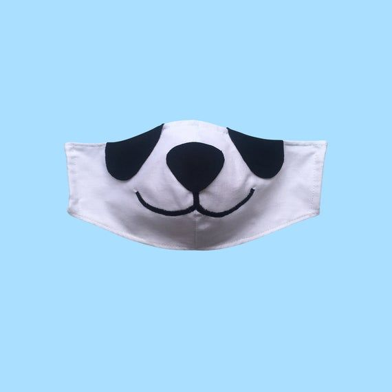 Photo of Panda Face Mask with Filter Pockets