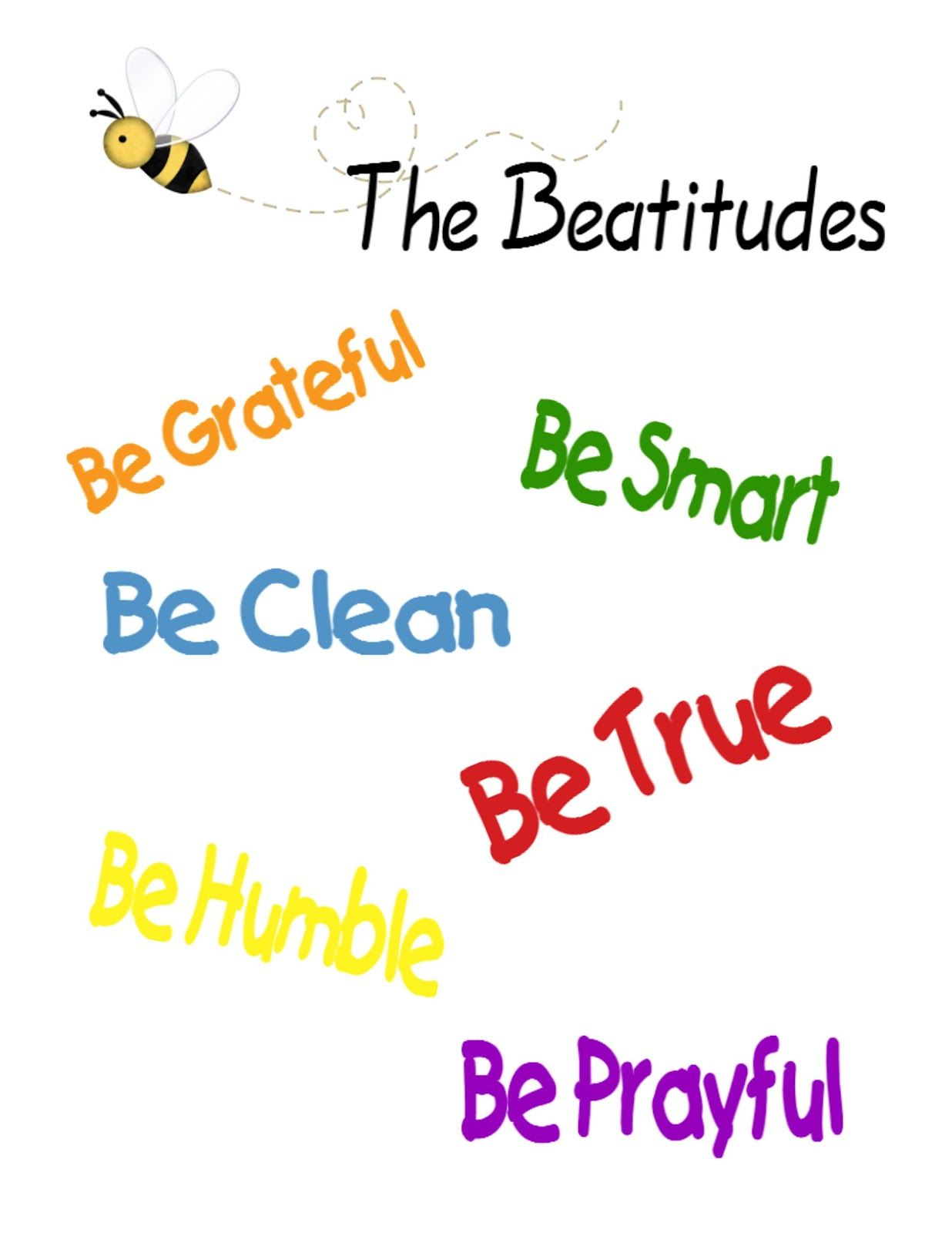 the beatitudes for children | ... need in our household to re-visit the  importance of the Beatitudes