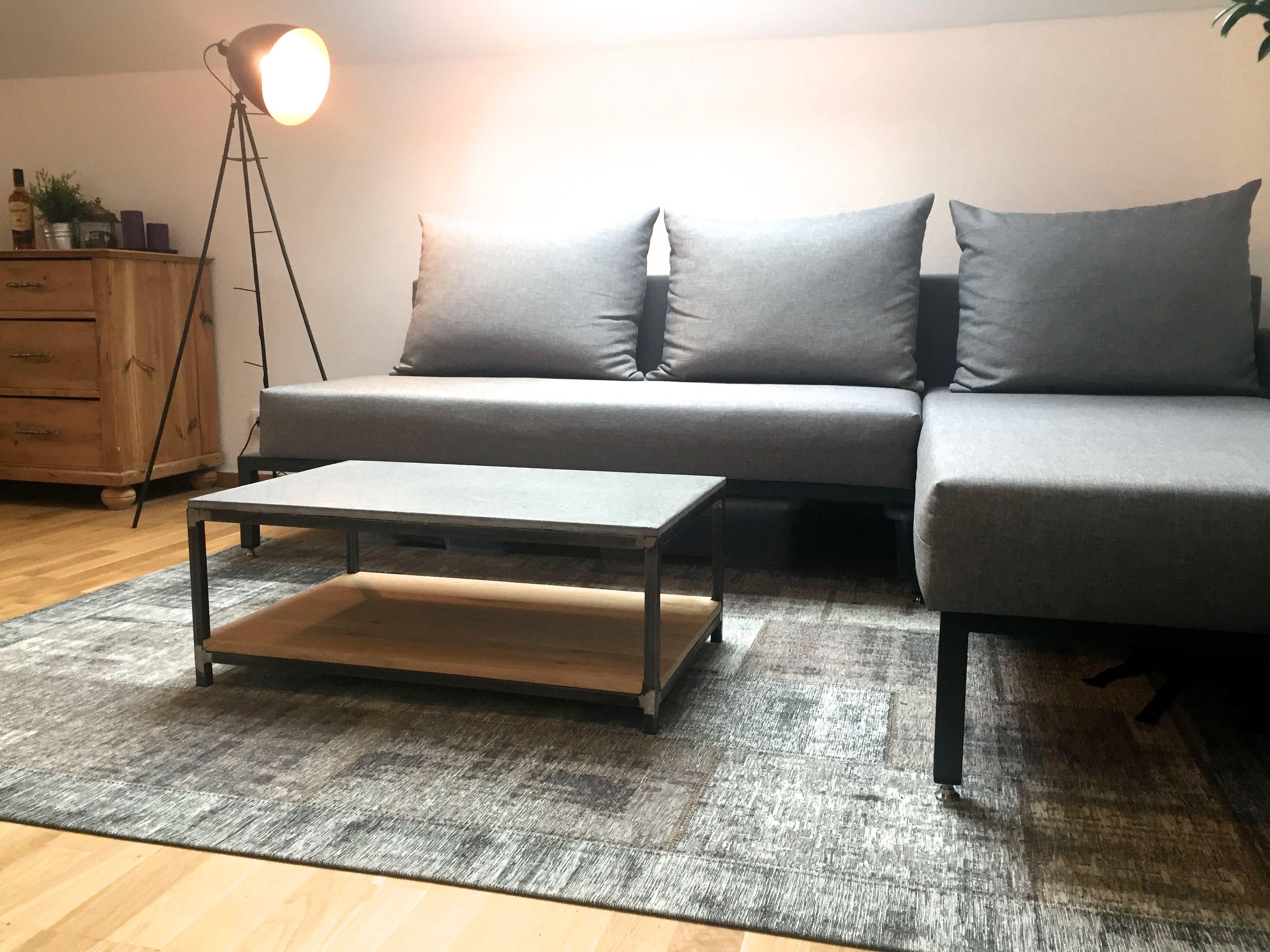 Couch Tisch Beton Holz
