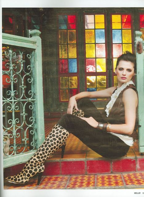 Stana Katic Photo Shoot - Leopard Boots