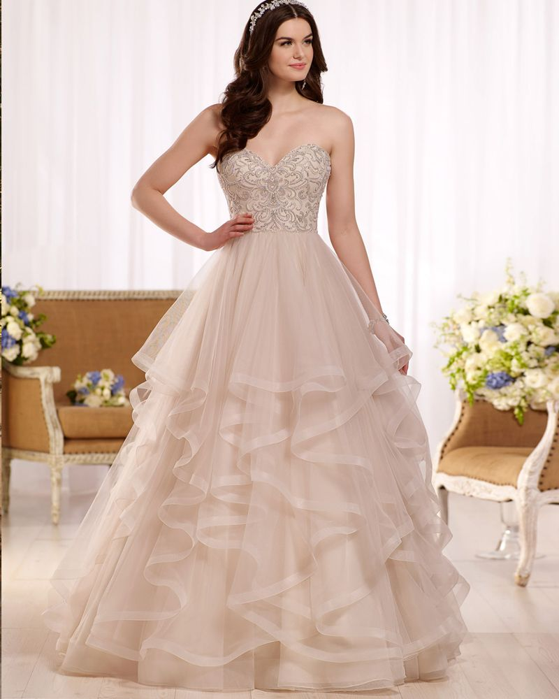 Amdml 2017 Stunning Beaded Crystal Princess Ball Gown Wedding ...
