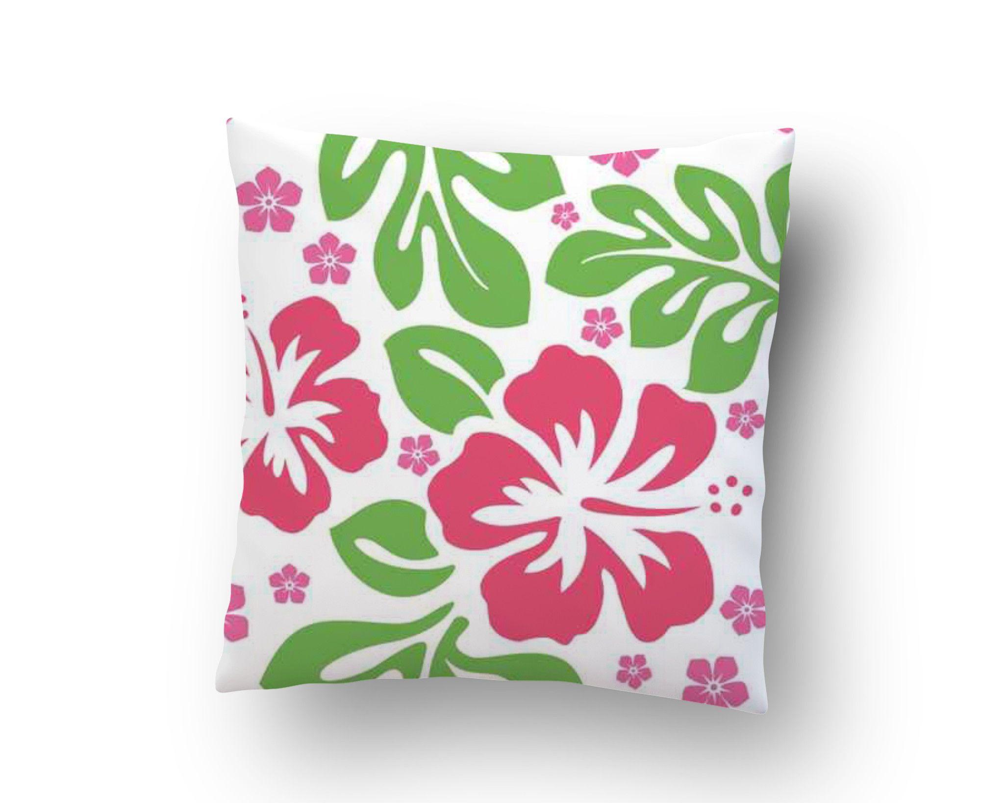 Green and pink hibiscus hawaiian throw pillow case from surfer green and pink hibiscus hawaiian throw pillow case from surfer bedding izmirmasajfo Images
